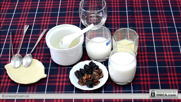 Sữa chua yến sào (Yaourt yến sào) bước 1