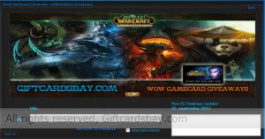 World of warcraft game card generator