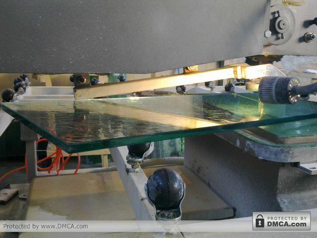 Стекло толщиной 15 мм. Станок для сверления стекла Enkong ZJ130.