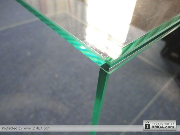 Обработанная кромка. Станок для обработки кромки стекла Enkong ZM9.