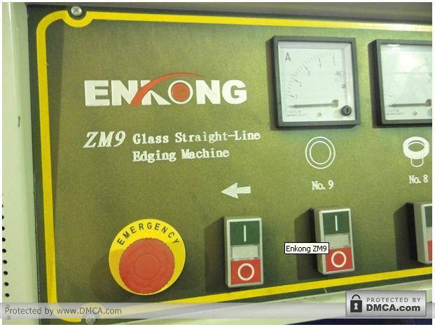 Аварийное отключение. Станок для обработки кромки стекла Enkong ZM9.