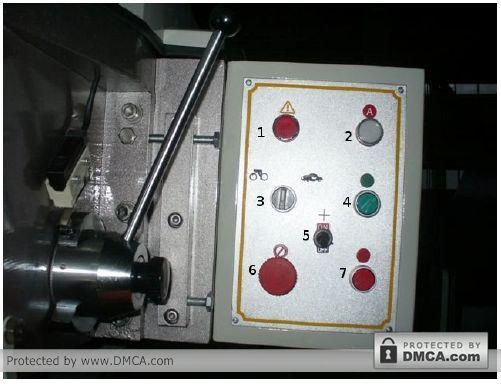 Пульт управления. Станок для сверления стекла Enkong ZJ130.