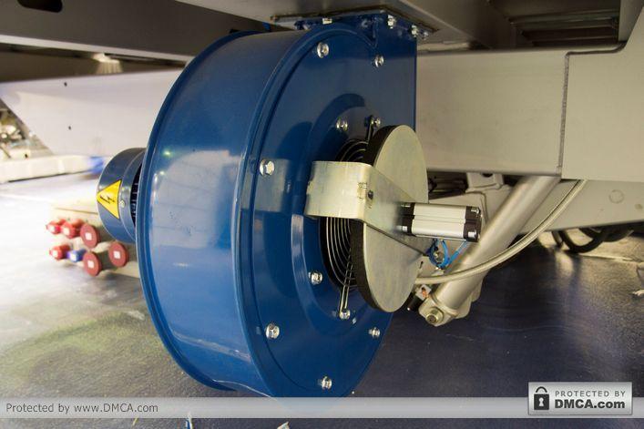 Автоматический стол раскроя Bottero 352 EVO. Клапан отсечения воздуха.