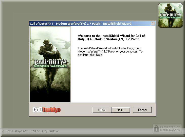Call of Duty 4 Patch v.1.7 - CoDPatch