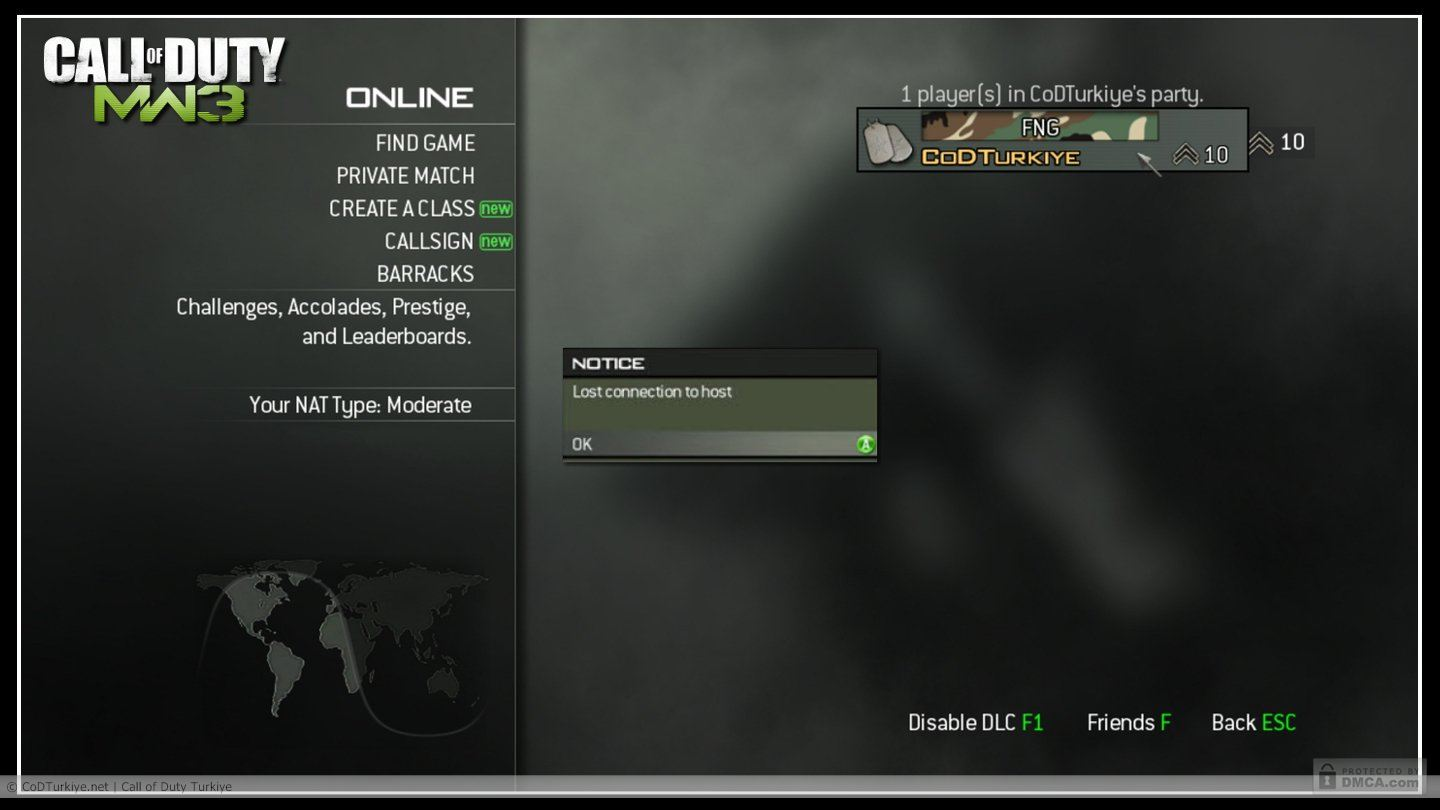 Mw2 stuck at connecting to matchmaking server