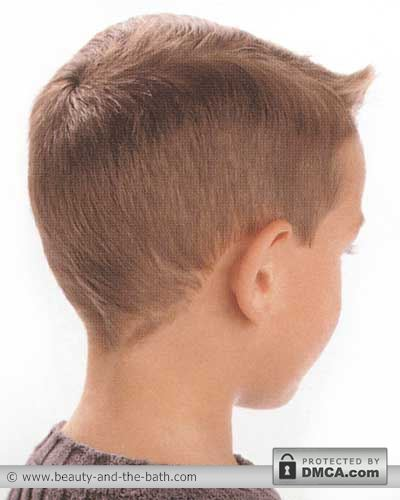 back view boys short hairstyle