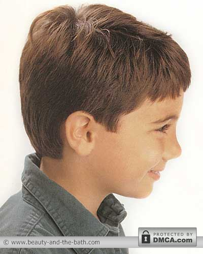 boys short easy haircut back and side view