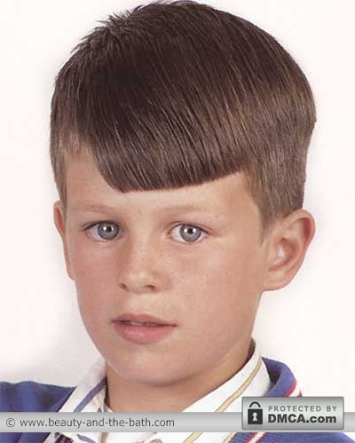 boys short side sweep hairstyle