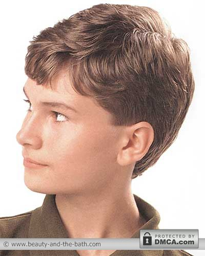 side view boys short layered haircut