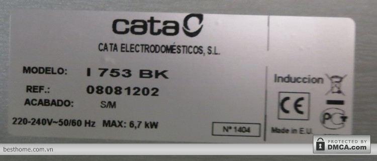 Thông tin và xuất xứ của bếp từ Cata I753BK